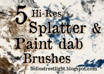 Splatter and Paint Dabs