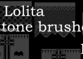 Gothic Lolita Lace Comic Tones