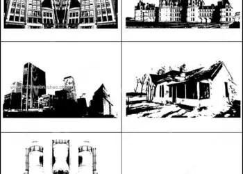 Architecture House – Industry – Skyline Photoshop Brushes