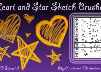 Sketchy Heart and Star