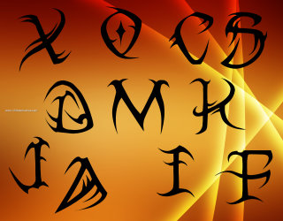 Tribal Letters A to Z