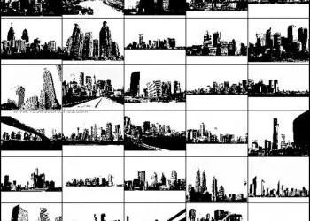 Free City Skylines Photoshop Brushes
