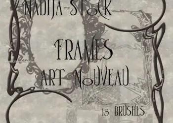 Art Nouveau Frames Stock