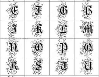 Decorative Alphabets Brushes Free Download