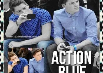 Blue  Photoshop Action