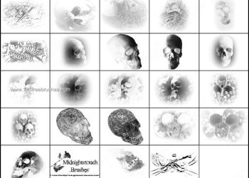 Skull Brushes for Photoshop 7