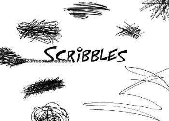 Ink Scribbles Set 12