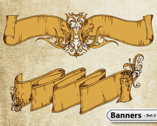 Hand Drawn Banners -Set-3