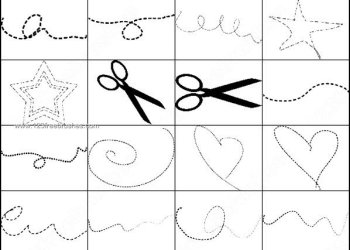 Dashed Lines – Scissors Photoshop Brushes