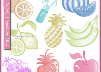 Fruits – Banana – Apple – Grapes – Pineapple