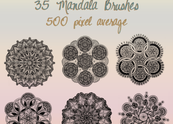 Black Winter Mandala
