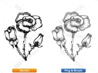 5003048-hand-drawn-sketch-flowers-vector-and-photoshop-brush-pack-01_p011