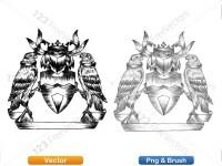 5012012-hand-drawn-sketch-heraldic-coat-of-arms-vector-and-brush-pack-03_p012