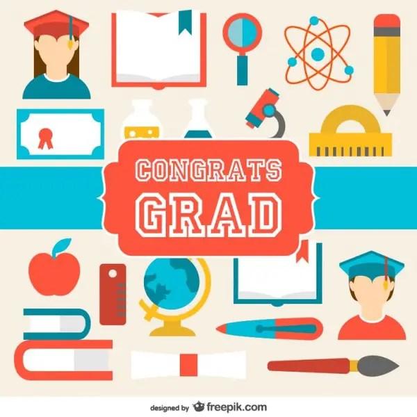 graduation congratulations card free vector 123freevectors