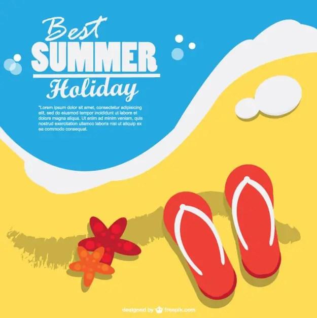 Summer Holiday Art Free Vector