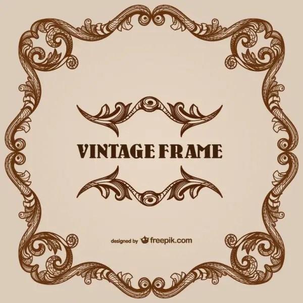 Vintage Style Floral Border Frames Free Vectors   123Freevectors