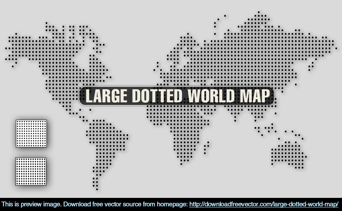 Large dotted world map free vector 123freevectors large dotted world map free vector gumiabroncs Image collections