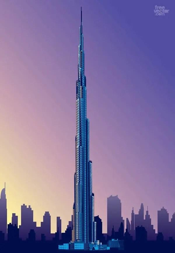 Tribal Heart With Banner Burj Khalifa Free Vect...