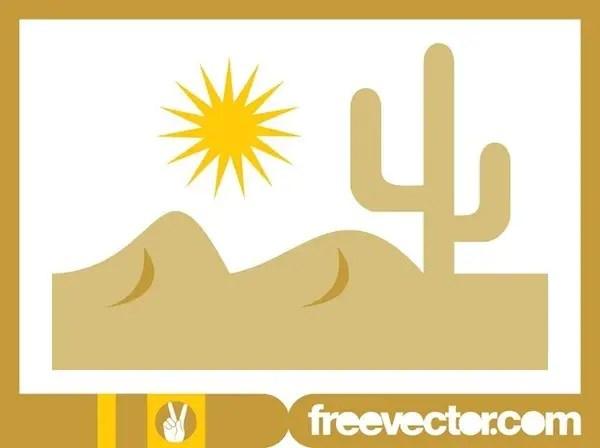 Desert Landscape Design Free Vector