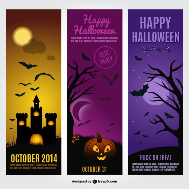 Halloween Cards Free Template Free Vector