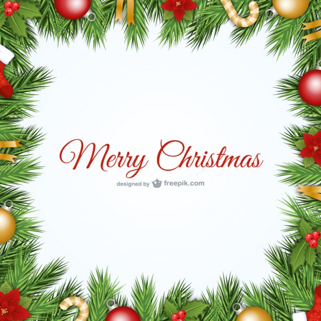 Christmas Frame Free Vector | 123Freevectors
