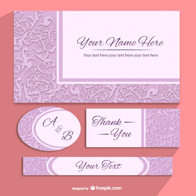 floral invitation templates pack free vector 123freevectors