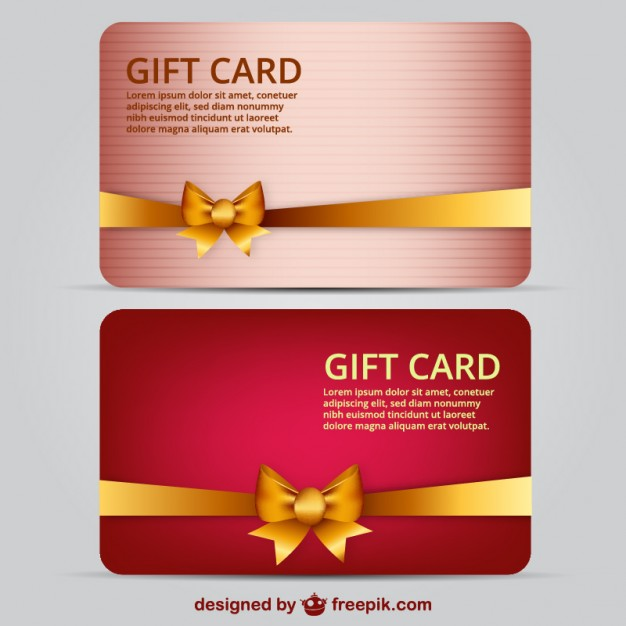 Beautiful Gift Card Template Free Vector