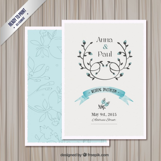 Wedding Invitation Card Template Free Vector Preview