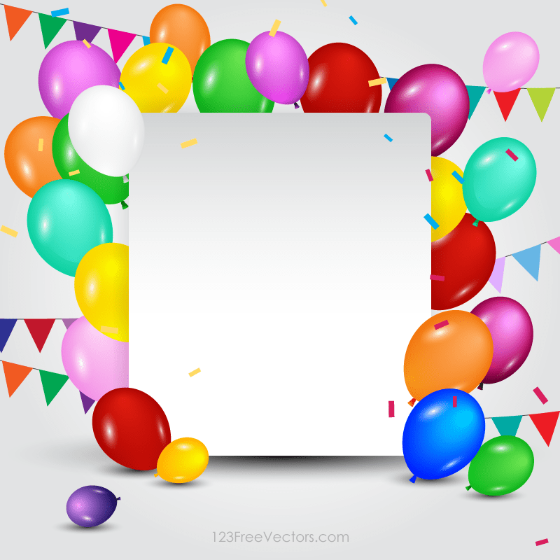 Happy Birthday Card Template 123freevectors