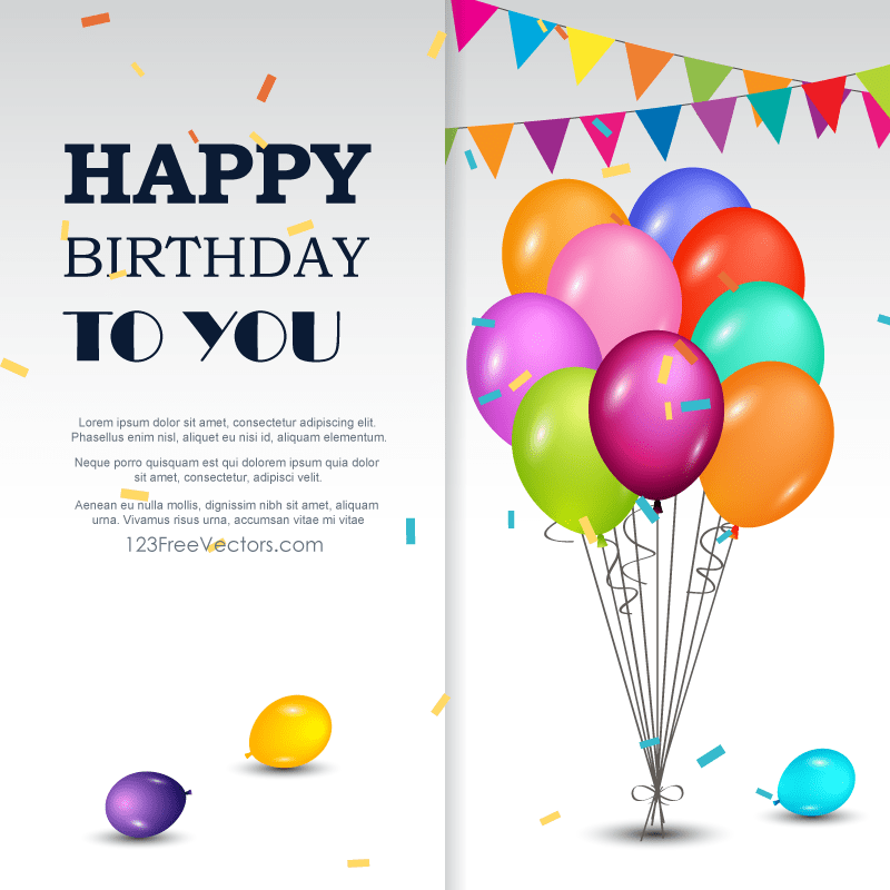 Happy birthday greetings card 123freevectors happy birthday greetings card m4hsunfo