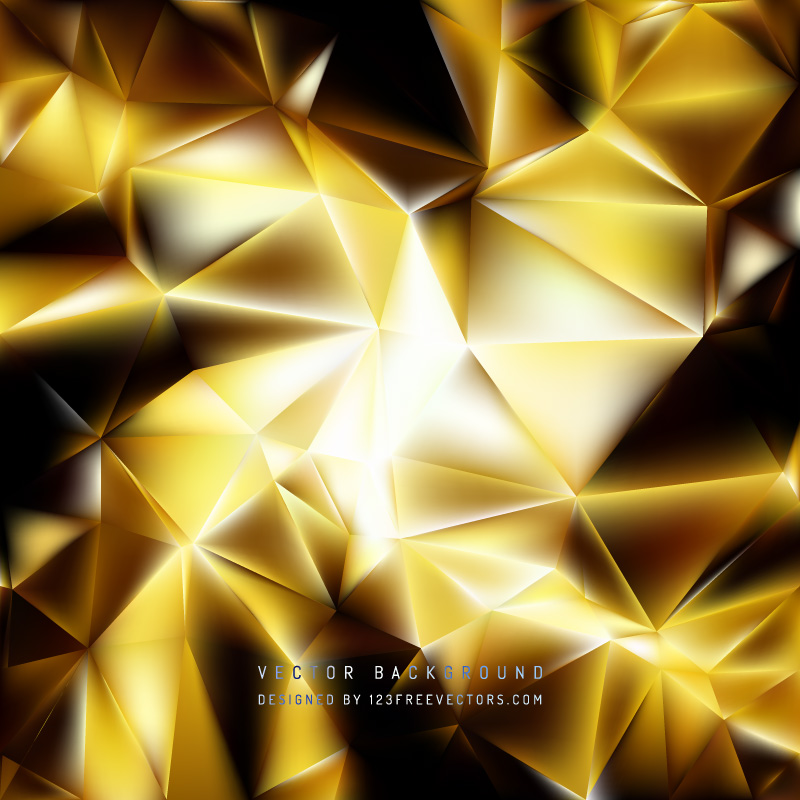 Abstract Black Yellow Polygon Pattern Background 123Freevectors