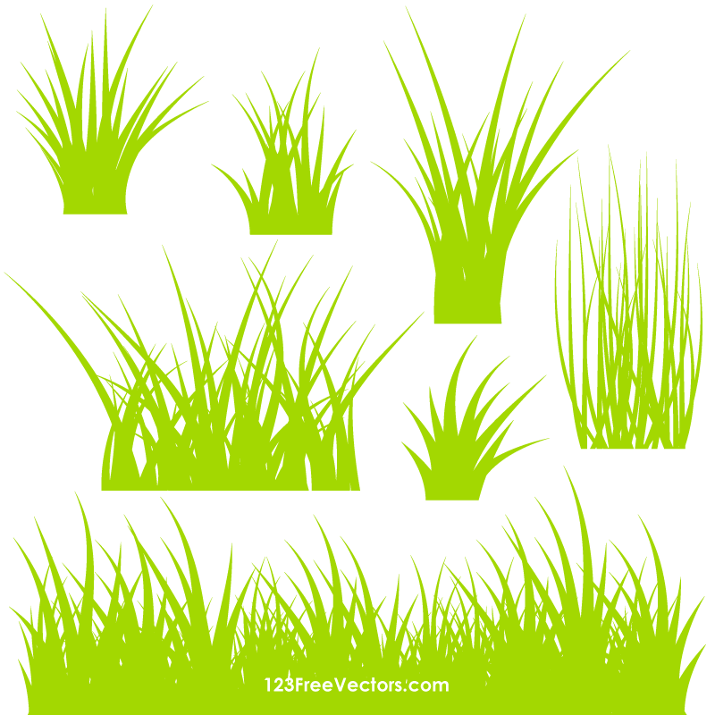 Grass Vector Ai 123freevectors