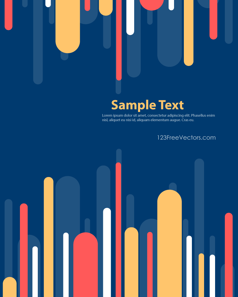Color Stripes Background Template