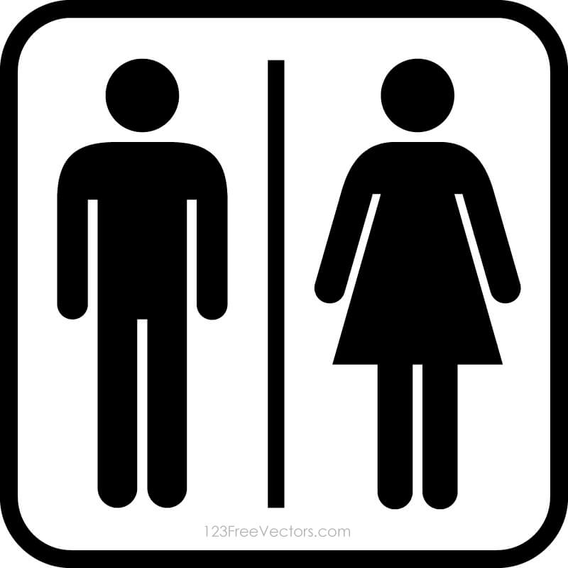 Male Female Restroom Symbols 48Freevectors Impressive Male Female Bathroom Symbols