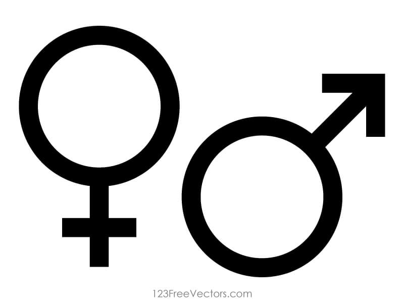Male And Female Gender Symbols Vector 123freevectors