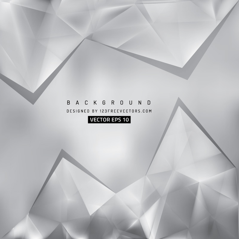 Abstract Light Gray Triangle Polygonal Background