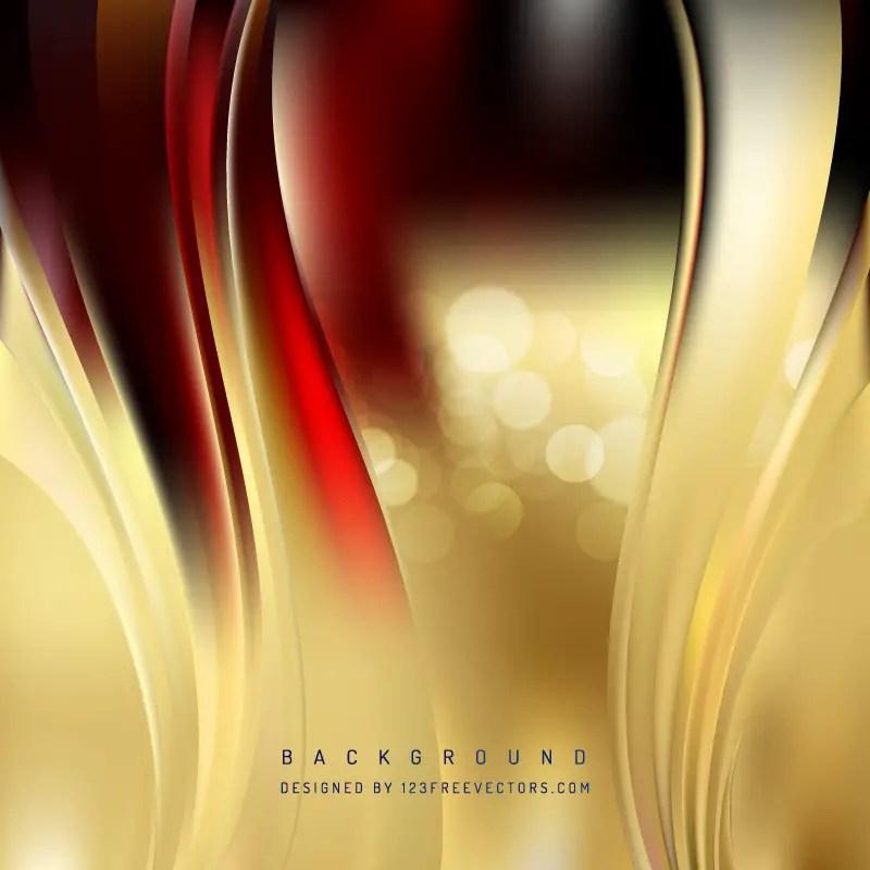 Dark Red Gold Wave Design Background 123Freevectors