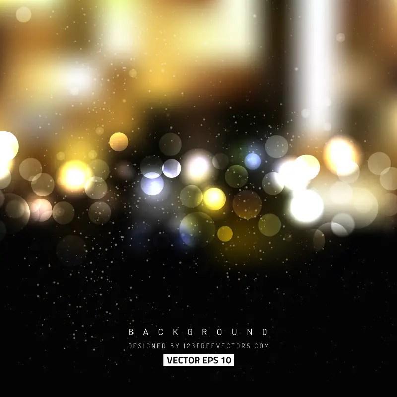 Black Gold Bokeh Lights Background 123Freevectors