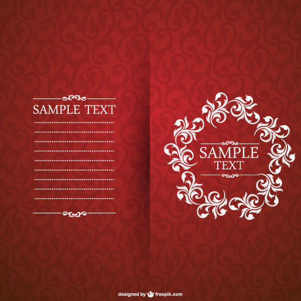 Vector red floral invitation card template 123freevectors vector red floral invitation card template stopboris Image collections
