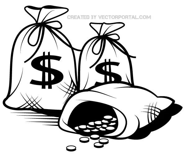 money bag vector art 123freevectors