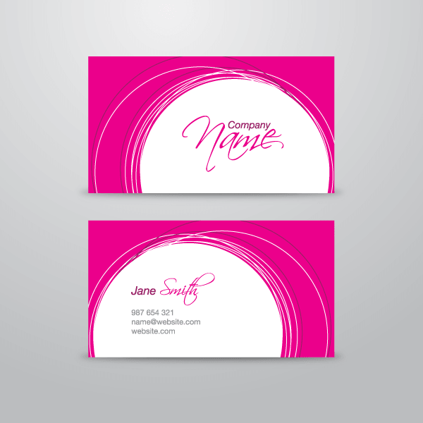 Pink business card vector template 123freevectors pink business card vector template colourmoves