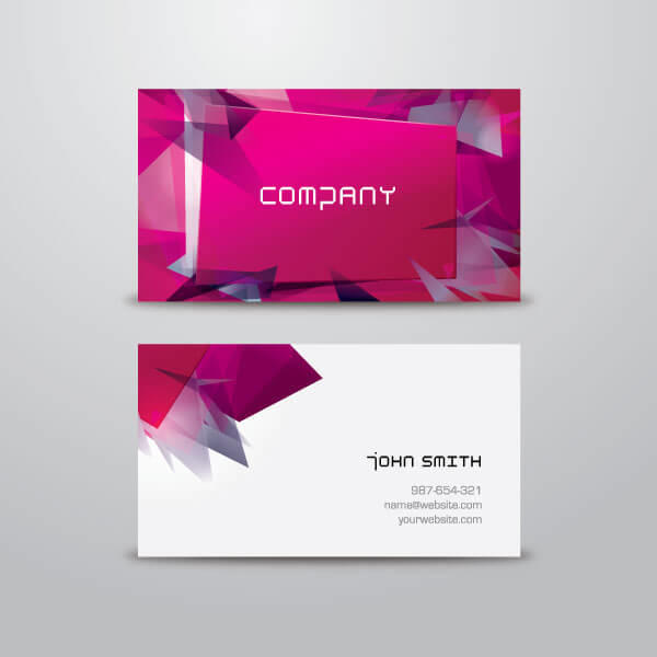 Modern business card design template vector 123freevectors modern business card design template vector reheart Image collections