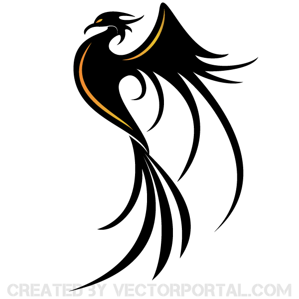 Phoenix Bird Vector Art 123freevectors