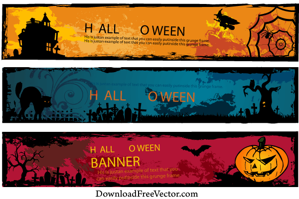 Halloween Triangle Banner