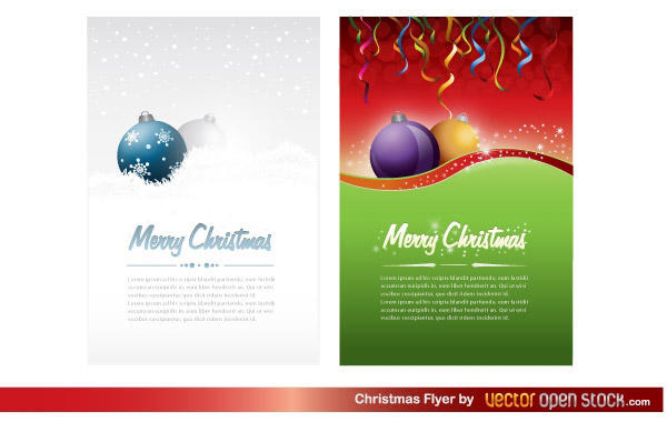 free christmas party flyer template vector