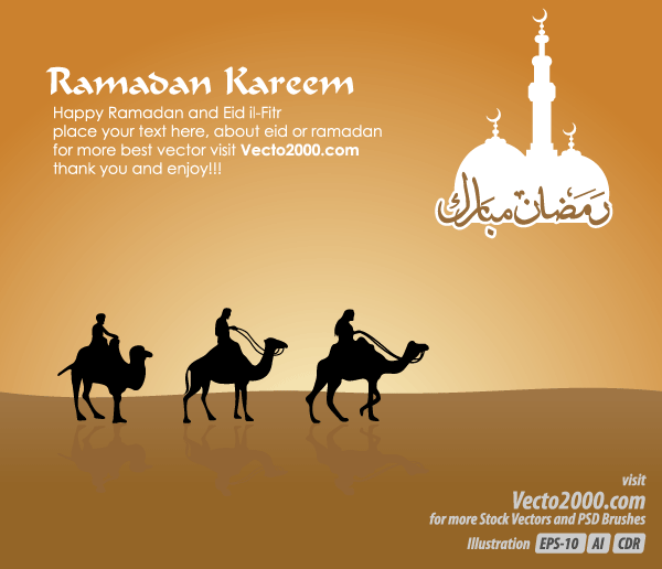 Free islamic greeting card for ramadan kareem vector 123freevectors free islamic greeting card for ramadan kareem vector m4hsunfo