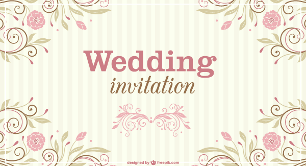 Floral wedding invitation vector template 123freevectors floral wedding invitation vector template stopboris Images