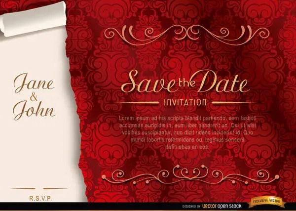 Vector elegant floral marriage invitation template 123freevectors vector elegant floral marriage invitation template stopboris Gallery