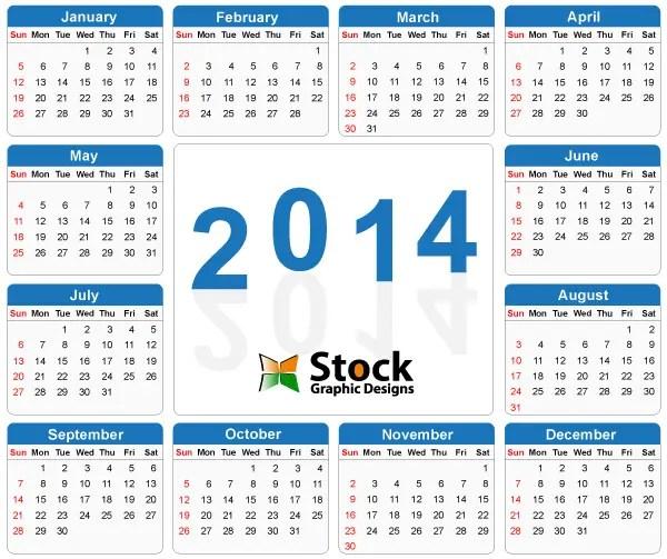 2014 Calendar Vector Free Download 123freevectors