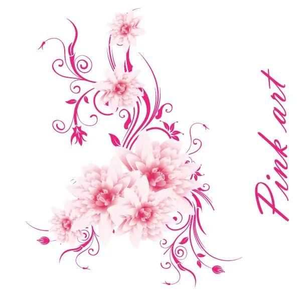 Free vector art lovely pink flowers 123freevectors free vector art lovely pink flowers mightylinksfo